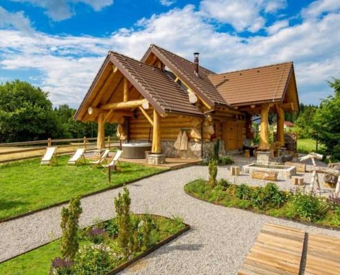 Divjake log home kuća za odmor gorski kotar