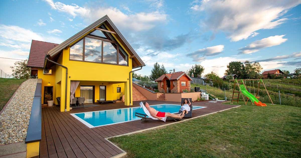 Ville Basium u Međimurju, kuća za odmor uz jedinstvene wellness i Yogi pakete.